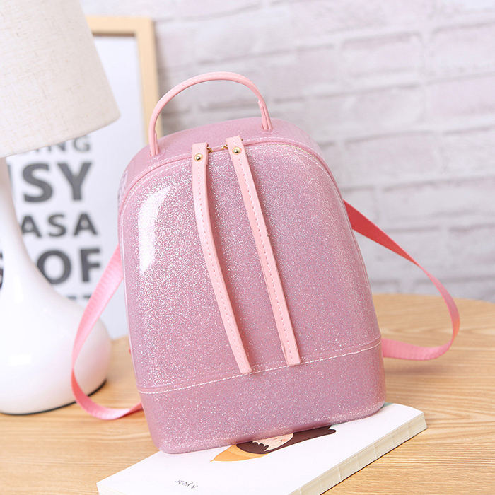 2019 New Cute Candy Color Silica Gel Jelly Backpack for Women Fashion Korean Style Girls Silicone Jelly Backpack
