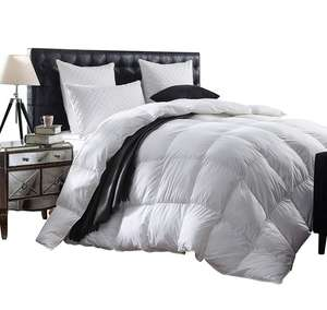 soft king white goose feather quilt double bed quilting cotton bed throw quilt
