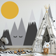 Mountains Woodland Baby Nursery Wall Decal,Nursery Decor Removable Wall Decal Sticker for Kids Room Nursery