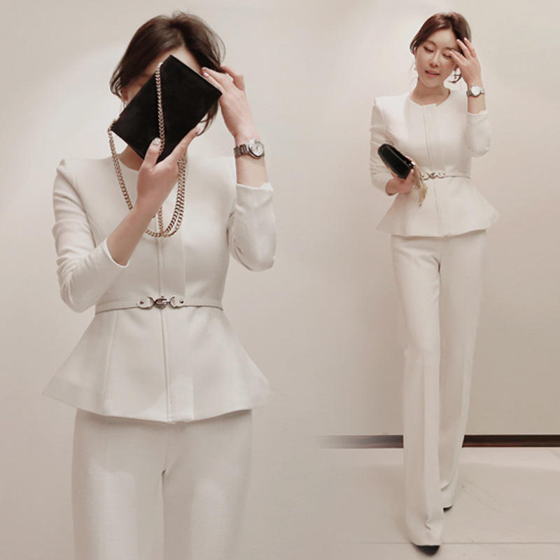 Slim Fit Blazer New Pant Coat Design Ladies Office Suit Styles Business Women Suits