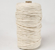 Wholesale 3mm 4mm 5mm natural single twisted cotton rope macrame cord for wall hanging