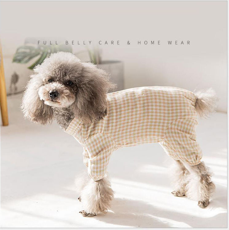 Spring Summer Simple Dog Four Legs Clothing New Pet Evening Clothes