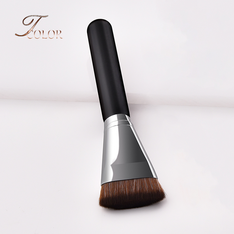 Private Label Single Contour Blush Powder Flat Top Buffer Makeup Brush