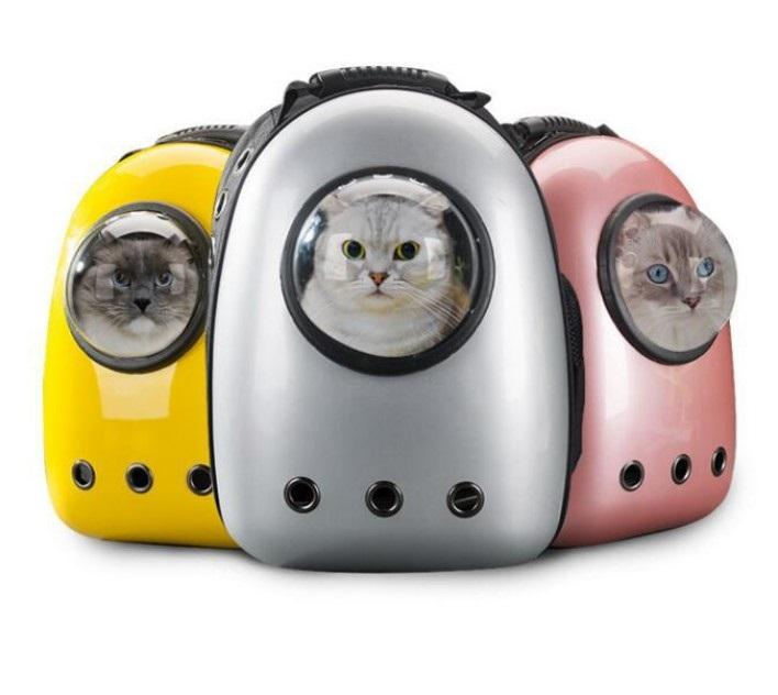 Pet Space Capsule Carrier Backpack Pet Bubble Dome Traveler Knapsack Multiple Air Holes Waterproof Lightweight Bag for Cats