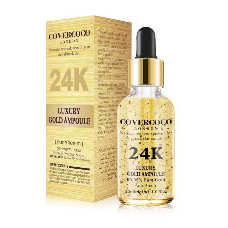 Luxury Anti Wrinkle Anti-aging Natural Lifting Moisturizing Face Lift Essential Oil 24k Gold Serum