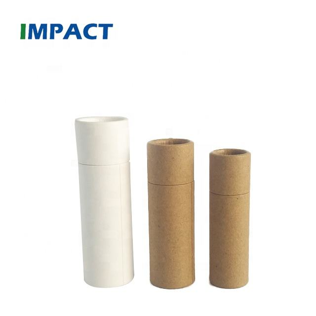 Empty wholesale paper cardboard push up paper tube for lip balm deodorant tubes