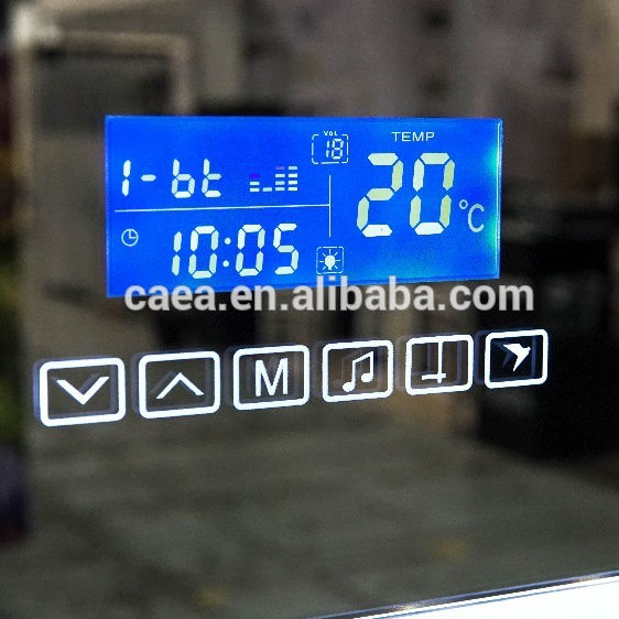 smart time temperature date calendar display bluetooth USB music fm radio for mirror of bathroom K3015