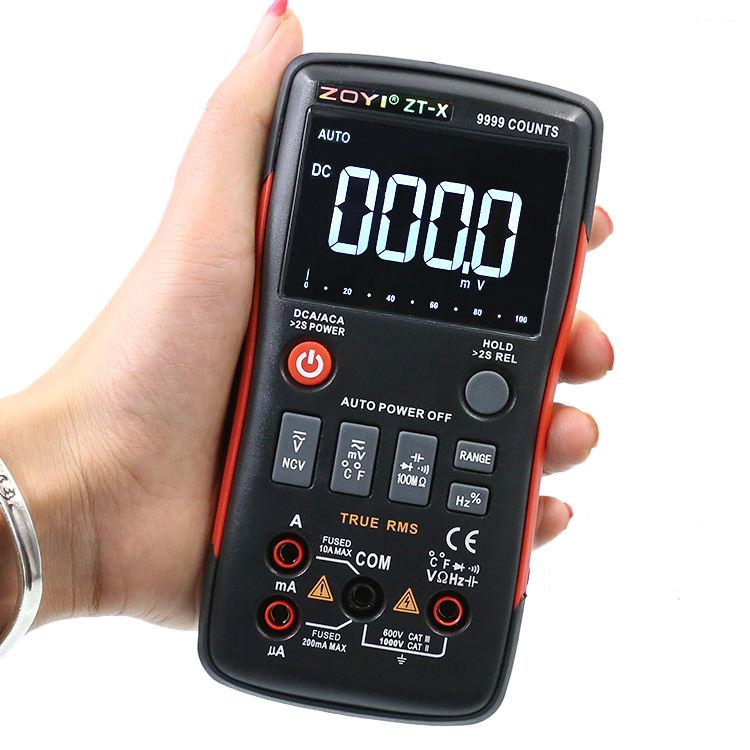 ZOTEK Hot sale multimeter 9999 count Multifunction low price digital multimeter auto range multimeter