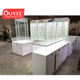 Factory Direct Sale Mobile Phone Shop Decoration Glass Showcase Mobile Shop Counter Design Cell Phone Display Glass Cabinet