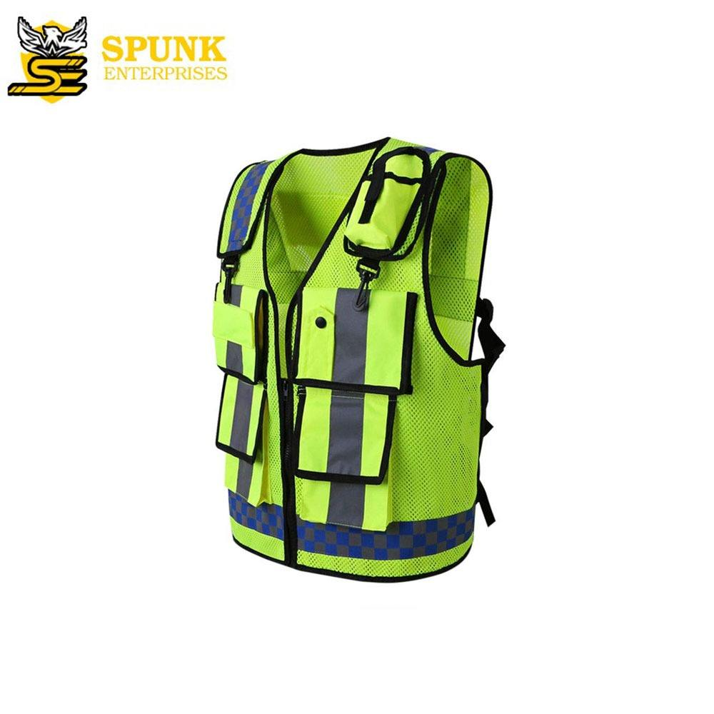 OEM White Safety Vest High Quality Cheap Coats High Visibility