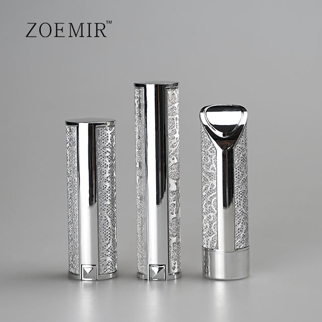 Free Samples luxury Style Shiny Silver Lipstick Tube