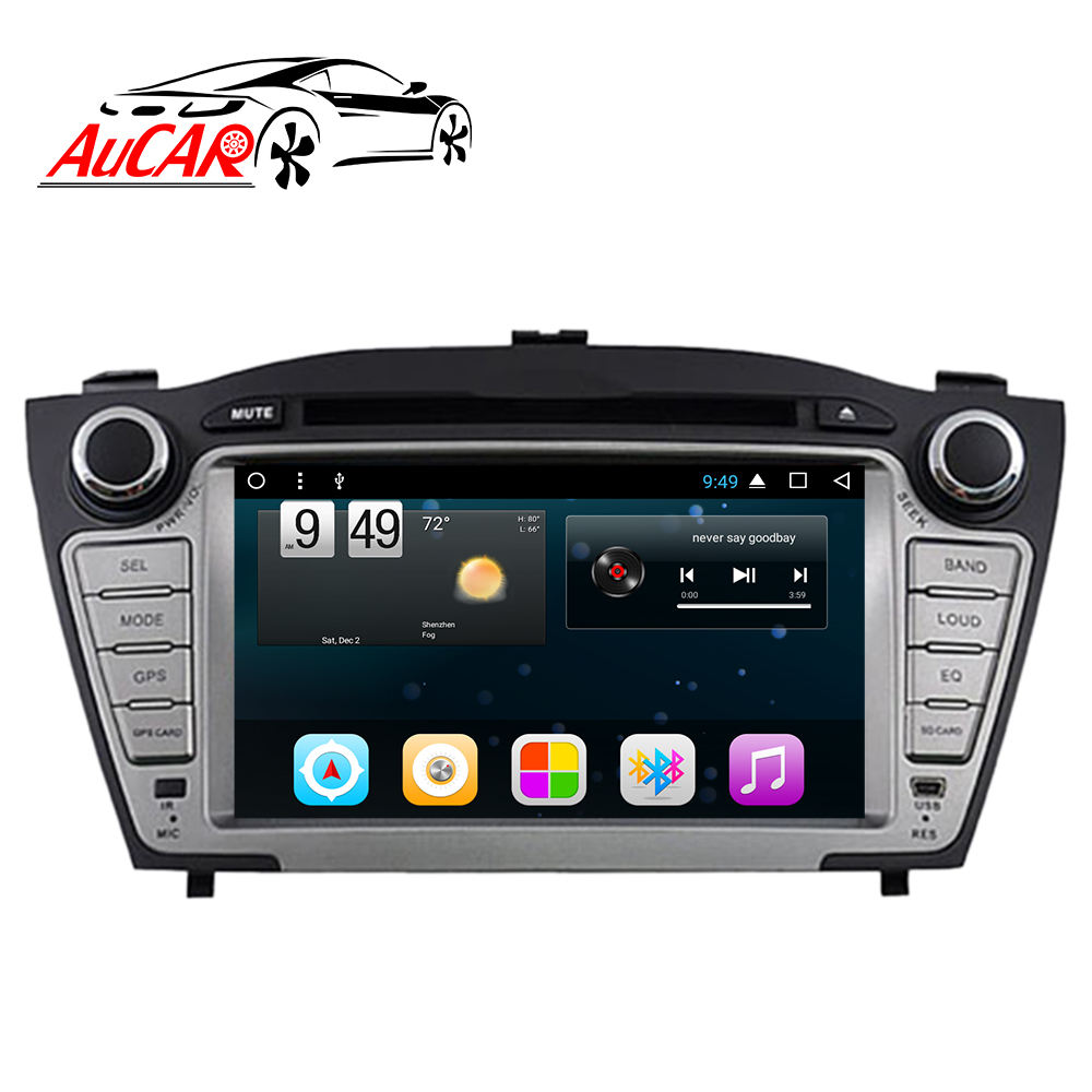 "AuCAR 7"" Android Car Radio for Hyundai Tucson IX35 2009 - 2015 Touch Screen Stereo Video GPS Bluetooth Multimedia BT 4G IPS WiFi"