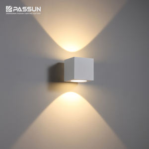 modern outdoor led decorative wall light 12w aluminium outdoor wall lamp
