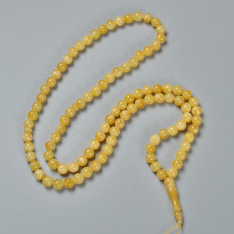 YS295 Export Supplier indian jewellery raw amber prices natural islamic muslim amber beads tasbih baltic amber prayer beads