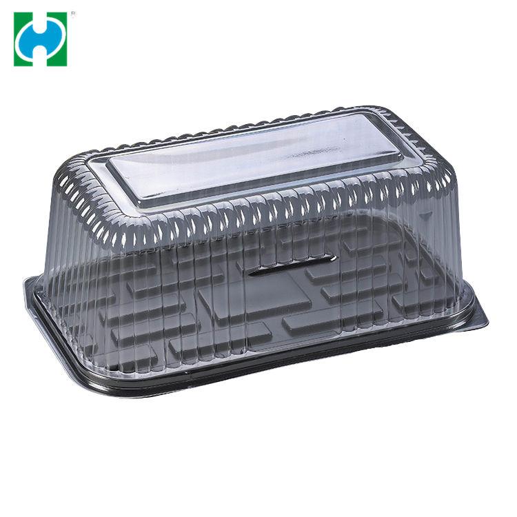Großhandel BOPS runde kuchen verpackung kunststoff aufbewahrungsbox mit deckel