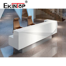Ekintop small salon cheap restaurant office counter table front office furniture design modern office reception desk