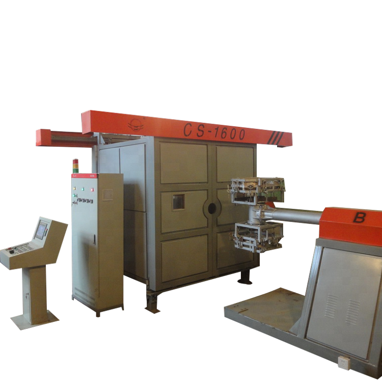 Rising Sun 2 arms 3 working stations shuttle rotomolding machine for plastic chair and water tank