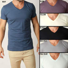 Cheap Price Wholesale Mens Plain T Shirts Basic Tee Shirt V Shaped Neck