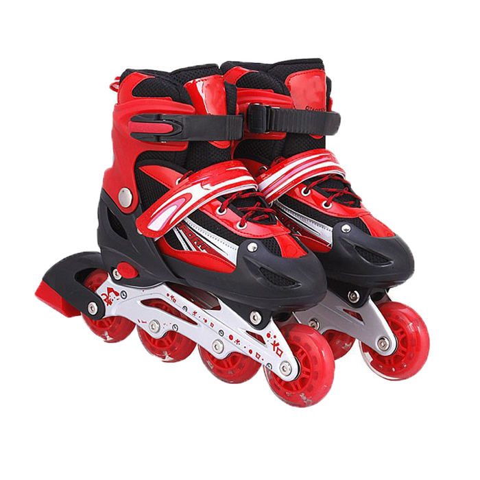 Best Price Professional Durable 4 Wheel Flash PU Electric Roller Skates Shoes Inline Speed Skate