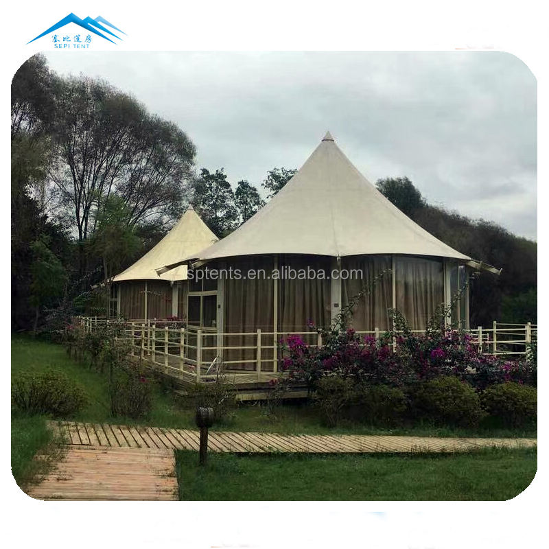 guangzhou newest style luxury lining decorated hotel tent