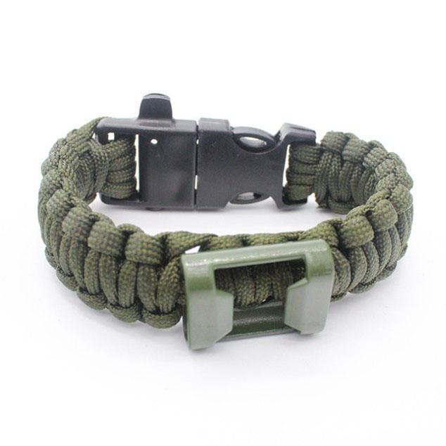 Outdoor survival flucht armband paracord weben flint whistle flaschenöffner armband