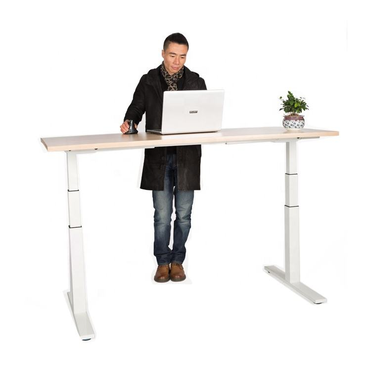 Ergonomic Office Furniture Electric Dual Motor Sit Stand Adjustable Standing Desk