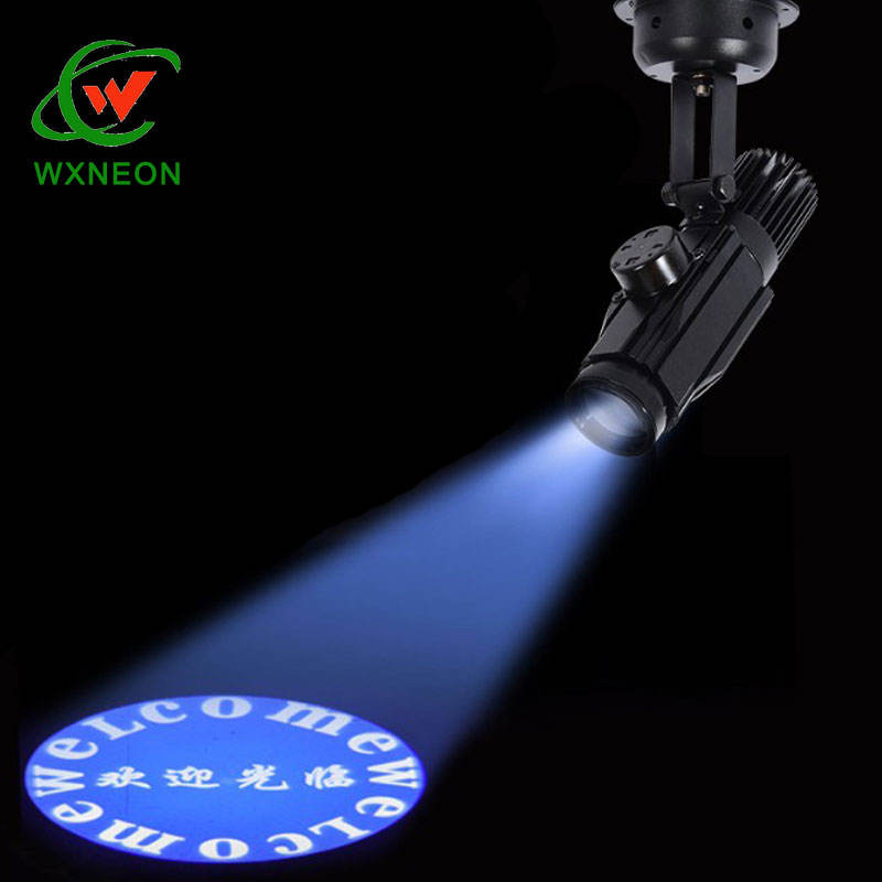 Advertising Indoor 25W LED Gobo Projector Custom Colorful Gobo Light Logo Projection Light