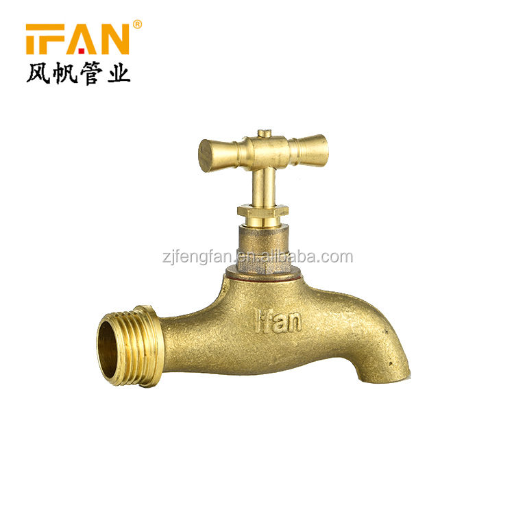 Wholesale Bathroom Tap Gold Color Faucets Mixers Taps 1/2 3/4 Inch Water Tap Brass Bibcock for garden kitchen