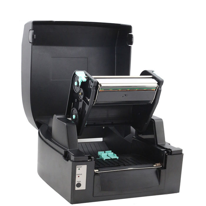 100% factory direct barcode sticker printer for printing on satin ribbon comparable with zebra barcode printer