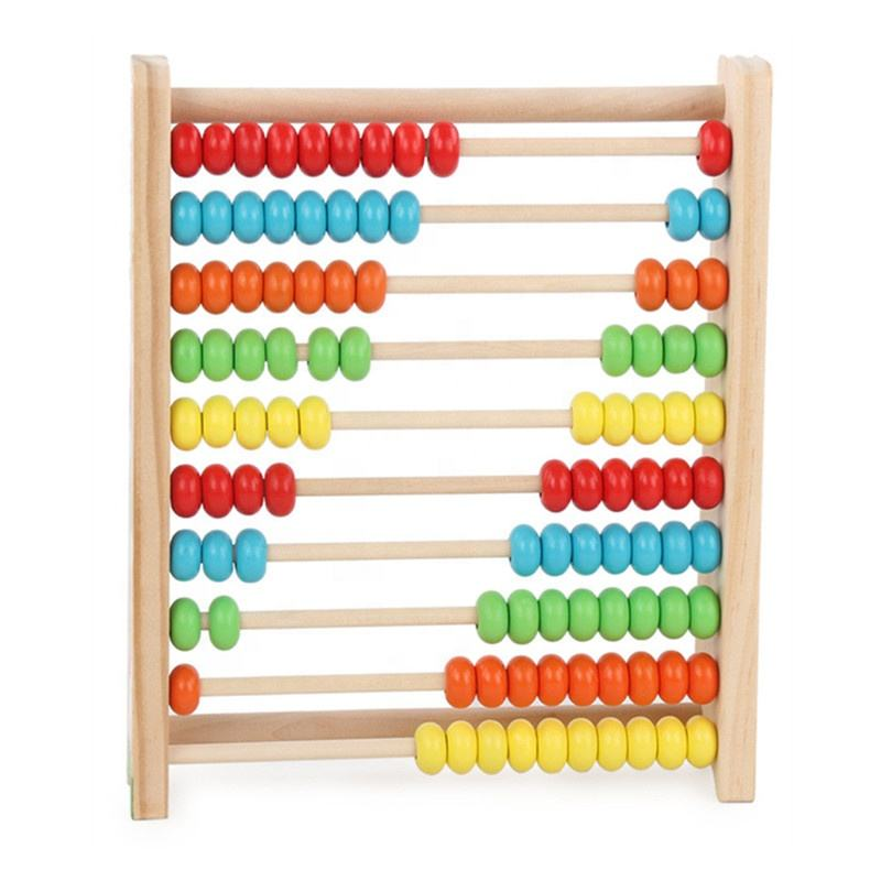 Math Educational Wooden Abacus Counting Beads Toy
