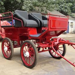 High Quality 4 Wheels Horse Cart/Marathon Horse Carriage for Sale