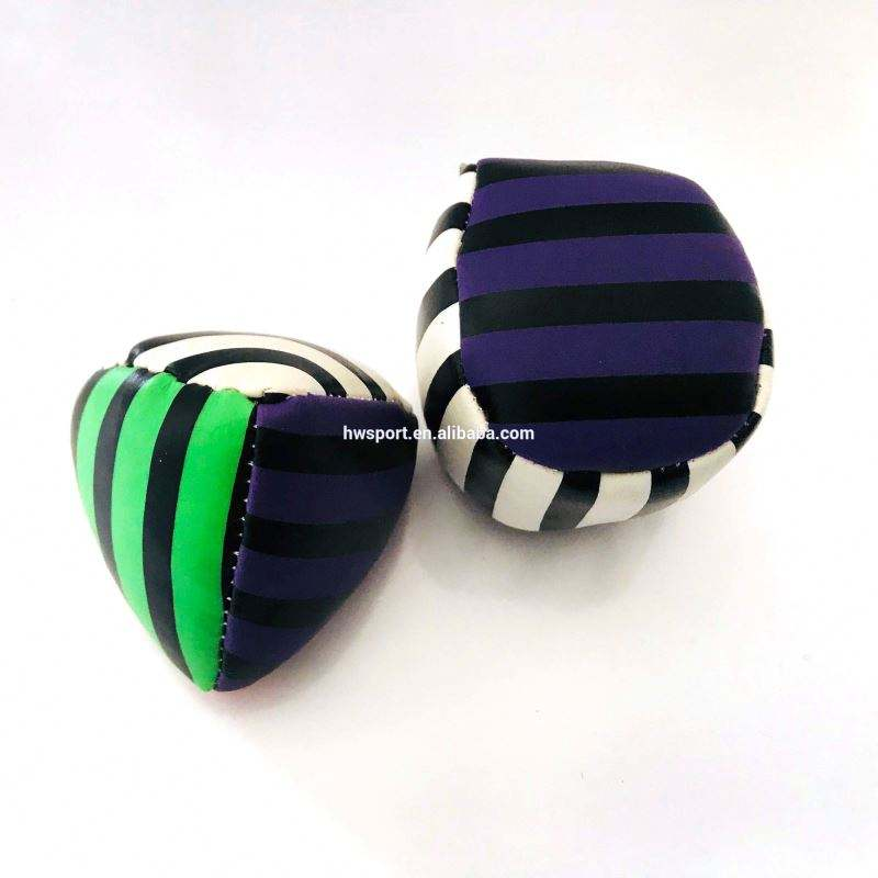 Promotional high quality kick juggling ball custom size and logo stuffed foot bags ball toys