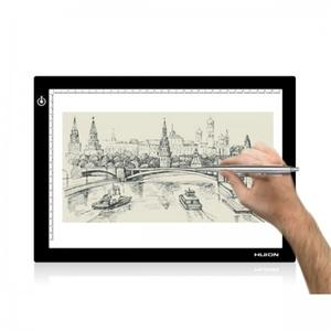 Huion L4S 5.1mm Ultra-dunne + schaal animatie tatoo Acryl tracking board Tekening Tabletten LED Flexibele Tracing Light pad
