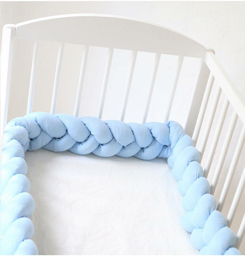 New Long Knotted Braid Pillow Soft Cushion Sofa 2M Length Baby Bumper Crib Bed Protector Kids Room Decor Knots Ball Pillow