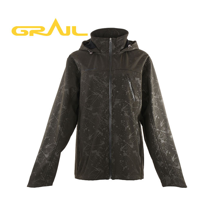 Water repellent men custom print outdoor softshell jacket oem