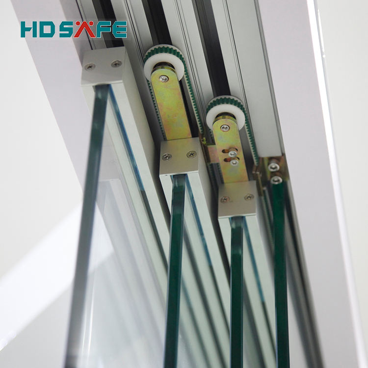 new design tempered soft closing frameless sliding glass door hardware system