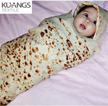 Dropshipping Plaid baby swaddle Soft Print Burrito Blanket Tortilla Soft Fleece Blankets