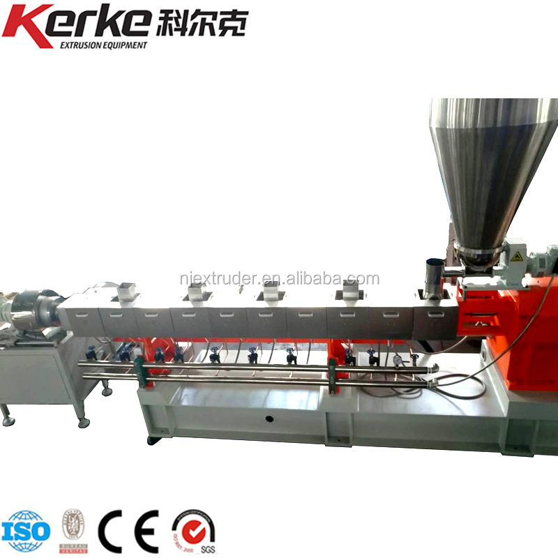 Twin Screw Plastic Compounding Extruder Machine PE WPC Extrusion Line