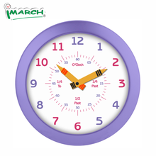 Imarch WC21502  Teaching Clock Educational Clock  Child Wall Clock Perfect for Parents and Teachers, Kids Bedroom or Classroom