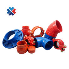 Fire Protection Sprinkler System Grooved End Pipe Fittings grooved ducitle iron Coupling