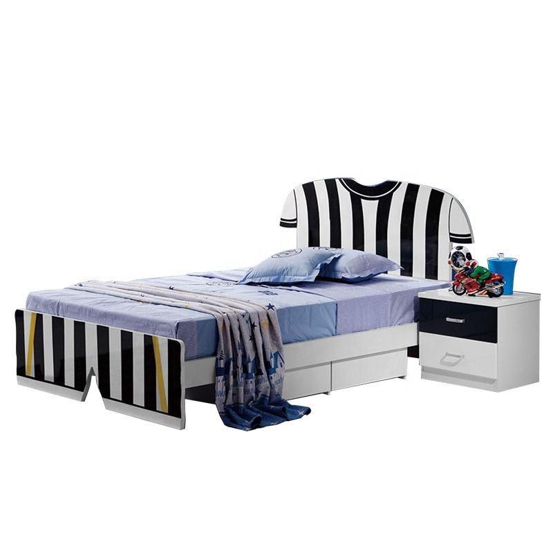 Solid MDF HDF Optional Italian Furniture Bed Kid Livingroom Wooden Like Boys Bedroom Wood Beds Set