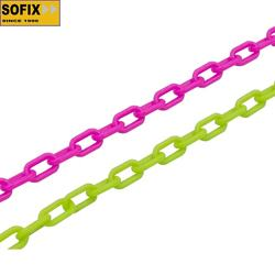 3mm plastic colorful decorative chain in stock