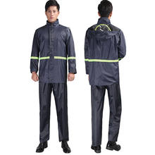 Navy Blue color Hiking raincoat Reflective Strip Separate Raincoat Electric Bicycle Riding  Protection Rain Suit