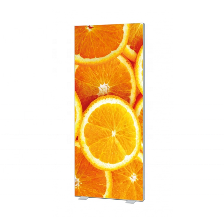 Super Slim Customized Led Animation mini Lightbox 180mm Free Standing Double Sided LED Frameless Fabric Light Box