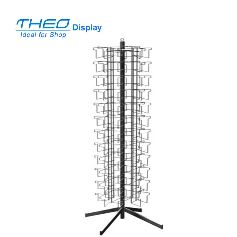Freestanding Rotatable 12 Level Card WIre Display Spinner Rack