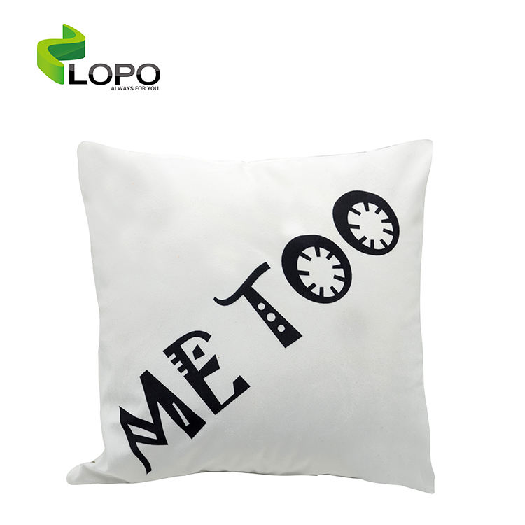 Sublimation textile charpie pillow case