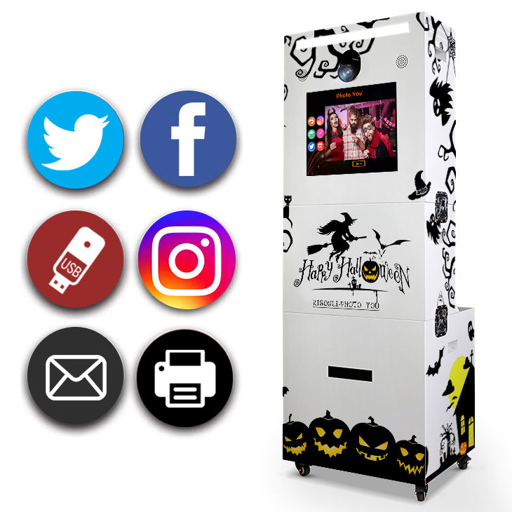 Kisonli Draagbare 3d Photo booth complete set met cabine photobox photo booth