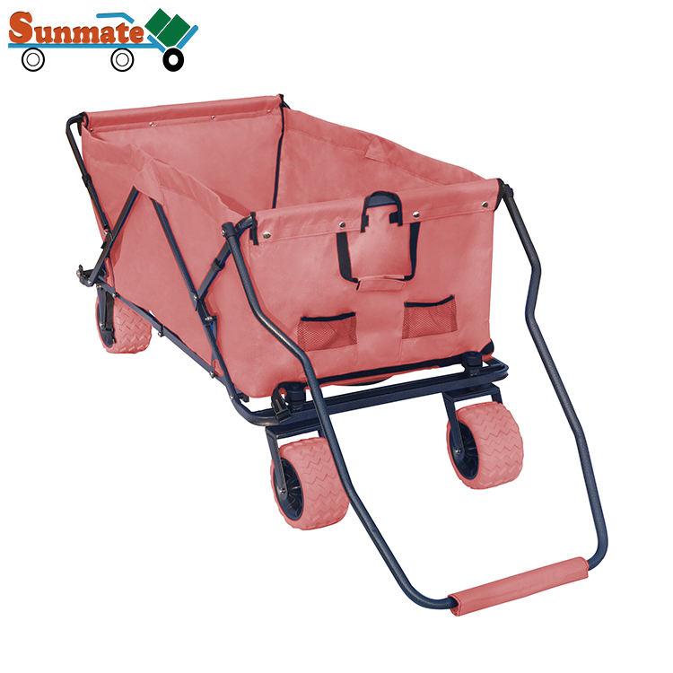 Multifuncional dobrável de alta capacidade praia camping folding <span class=keywords><strong>lançamento</strong></span> de metal trolley fabricantes