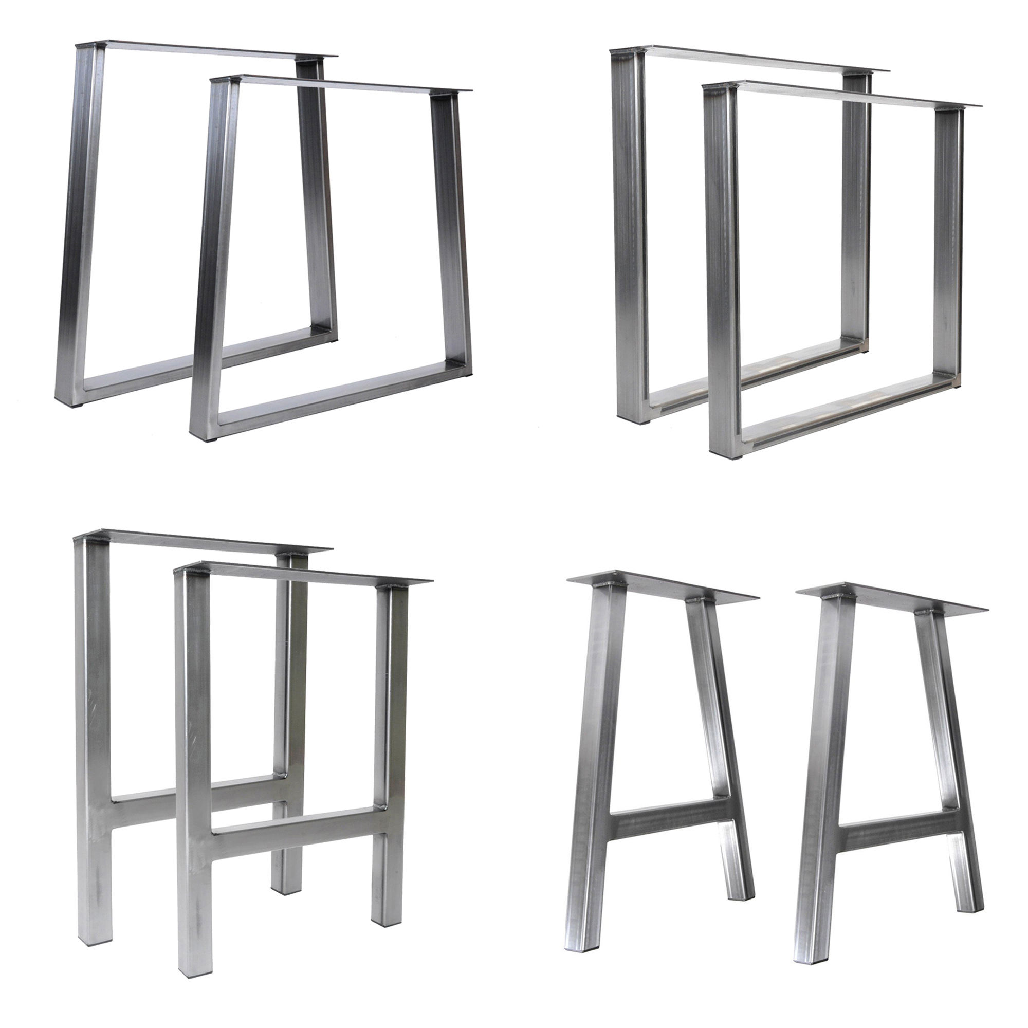 Stainless Steel Table Legs Heavy Duty Furniture Feet Frame Brushed Polished Square Office Desk Dining Stainless Steel Table Legs