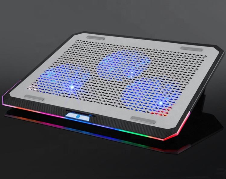 RGB Laptop usb cooling pad / Adjustable Notebook Cooler / Mini Laptop Cooler Draw Marquee-LED Banner